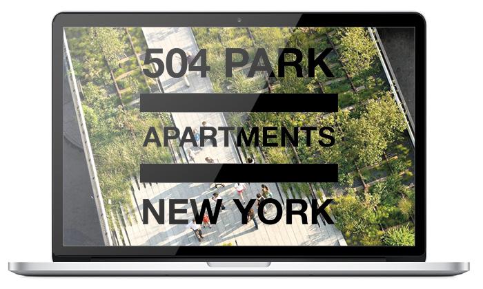 Mac Book pro website 504 Park Apartment New York