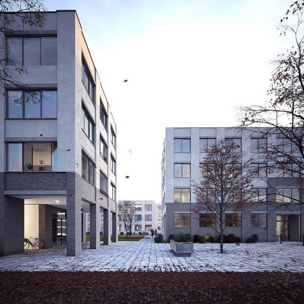 Planung von Maier Neuberger Architekten für die Neubruchstraße in München